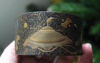 Antique Japanese Meiji Gilt & Black Lacquer Lidded Box (11 of 15)