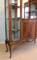 Antique Quality Shaped Mahogany Mirror Back Display Cabinet (5 of 7)