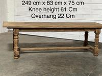 Nice Large Bleached Oak Farmhouse Dining Table With Extensions (24 of 35)