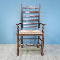 Refectory Table and 8 Ladderback Chairs (9 of 11)