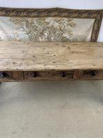 Superb Large 19th Century Pine Kitchen Table (9 of 10)