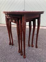 Antique Mahogany Nest of 3 Tables (2 of 8)