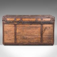 Large Antique Steamer Trunk, English, Pine, Travel, Shipping Chest, Victorian (6 of 12)