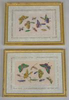 Fine Antique Pair of Chinese Paintings Butterflies & Insects on Pith (2 of 10)