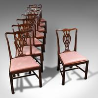 8 Antique Chippendale Revival Chairs, English, Mahogany, Dining Seat, Victorian (7 of 12)