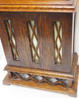 Grandmother Clock Fine Musical Longcase Clock Oak & White Dial c.1930 (10 of 14)