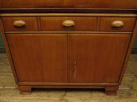 Vintage German School Cabinet with Fall Front, Mid Century Cabinet (10 of 16)