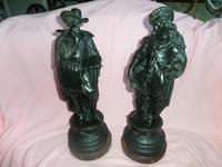 Fine Pair of French Spelter Figures c.1870 (2 of 4)