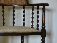 Barley Twist Oak Corner Chair (6 of 7)