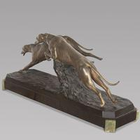 Charles Charles French Art Deco Bronze Two Greyhounds (3 of 6)