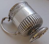 Rare Scottish Glasgow 1882 Solid Silver 1/2 Pint Tankard Christening Mug (3 of 13)