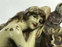 Austrian Franz Bergman Cold Painted Bronze Erotic Nude Lady Reclining Tiger Rug (7 of 13)