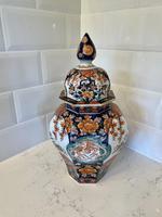Large Quality Antique Imari Lidded Vase