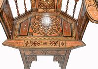 Pair of Damascan Chairs Inlay Arabic Syrian Interiors c.1920 (3 of 12)