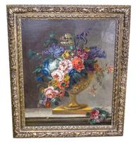 18th Century French Oil Painting. Still Life of Flowers. Artist: J. L Boizet 1789 (2 of 11)