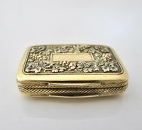 Wonderful cast silver-gilt vinaigrette Samuel Pemberton Birmingham 1816 (6 of 11)