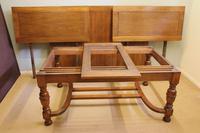 Large Antique Oak Extending Drawleaf Dining Table (15 of 15)