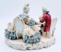 Dresden Germany Figurine Sculpture of Couple Playing Chess (4 of 6)