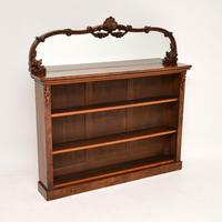 Pair of Antique Victorian Burr Walnut Mirrored Bookcases (3 of 13)