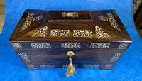 William IV Rosewood Tea Caddy With Mother of Pearl Inlay (5 of 15)
