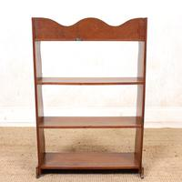 Oak Open Bookcase Waterfall Solid Carved (6 of 8)