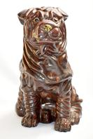 Large Early 20th Century Pottery Shih Tzu (6 of 7)