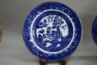 A Pair of Blue and White Willow Pattern Design Porcelain (7 of 8)