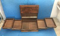 Victorian Brassbound Walnut Cigar Box (4 of 19)