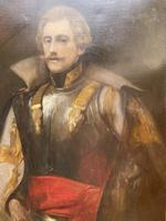 Military Officer In Armour Oil Portrait Painting On Canvas (2 of 10)