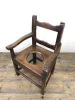 Antique Stained Pine Child's Potty Chair (10 of 12)