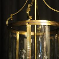 French Pair Convex Triple Light Antique Lanterns (4 of 9)