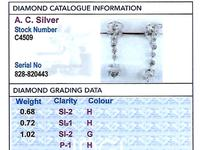 2.42ct Diamond & Platinum Drop Earrings c.1925 (8 of 9)