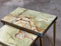 Nest 3 Onyx & Brass Tables (9 of 16)