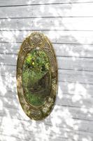 Arts & Crafts Movement Scottish / Glasgow School Large Oval Wall Mirror c.1900 (26 of 28)