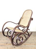 Bentwood Rocking Chair with Cane Seat (8 of 11)