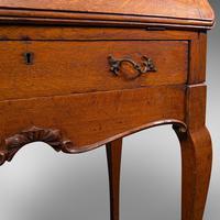 Small Antique Ladies Writing Desk, French, Oak, Bureau, Mirror, Victorian c.1900 (12 of 12)