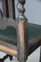 8 Victorian Jacobean Style Oak Dining Chairs (7 of 12)