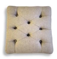 Walnut Upholstered Footstool (6 of 7)