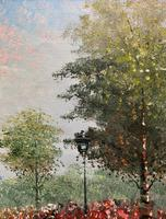 Lovely Pair of Original 20th Century French Parisian Gouache Cityscape Paintings (16 of 19)