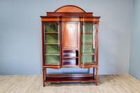 Inlaid Mahogany Display Cabinet (2 of 9)