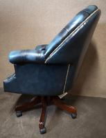 Directors Blue Leather Chesterfield Captains Office Chair (8 of 12)