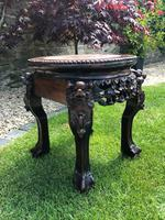 Chinese Hongmu Jardinière or Side Table with Marble Inset, Antique (4 of 16)