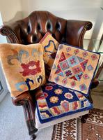 Four Vintage Chinese Carpet Cushion Covers. c1950 (3 of 5)