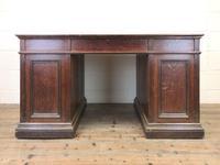 Antique Oak Pedestal Partners Desk (9 of 9)