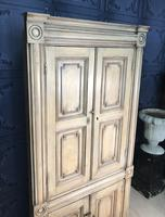 Pine Barrel Back Corner Cupboard in Original Paint (3 of 18)