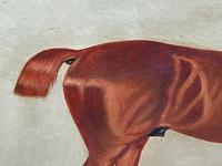 Victorian Oil Painting Chestnut Horse Portrait In Stable Signed Edwin Loder (23 of 42)