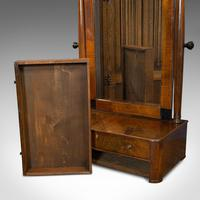 Antique Toilet Mirror, English, Walnut, Vanity, Empire Style, Victorian c.1880 (9 of 12)