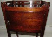 George III Mahogany Tray Top Bedside Cabinet (5 of 9)