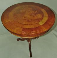 Italian Sorrento Walnut Inlaid Tripod Table (8 of 8)
