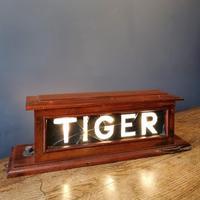 HMS TIGER Mahogany framed illuminated sign. Mid 20th Century militaria (8 of 12)